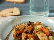 Poêlée quinoa aiguillettes volaille abricots