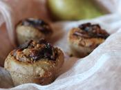 Mini-muffins banane châtaigne poires caramélisées