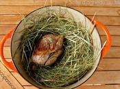 Selle d'agneau foin