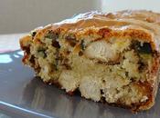Cake salé courgette, poulet poudre d'amande