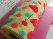 Gâteau roulé chocolat blanc fraises sousoukitchen