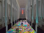 """Tapis Magiques"" projections lumineuses interactives Miguel Chevalier, Casablanca Installation"