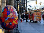 chasse l'oeuf géante dans rues York pour Pâques