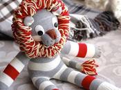 Coudre lion partir d'une chaussette