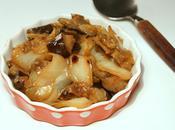 d'aubergines chou blanc sautés sauce soja