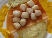 Brick petoncles pomme terre sauce safran