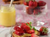 Brioche dorée, lemon curd fraises basilic