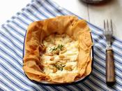 Tartelettes croustillantes fromage chèvre miel pignons confiture d'oignons rouges