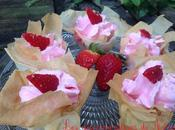 Verrines brick fraises-chantilly