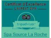 Tripadvisor récompense Source Roche Posay CERTIFICAT D'EXCELLENCE