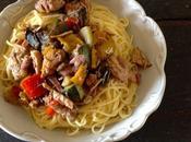 Spaghetti viandes, légumes parmesan