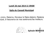 Conseil municipal lundi