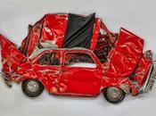 """Pressed Flowers"" Arad immortalise manière Fiat Sculptures"