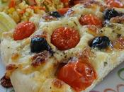 Foccacia tomates, olives, mozzarella