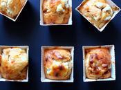 Mini cakes tomates confites, pignons chèvre frais