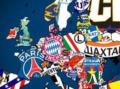 carte d'Europe clubs foot champions