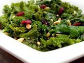 Salade chou Kale cranberries, pignons vinaigrette l'érable