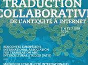 """Colloque international traduction collaborative l'Antiquité Internet"""""""