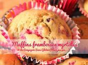 Muffins framboises myrtilles, sans gluten, lait, fruits coques....