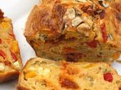 Cake salé chorizo, poivrons, feta basilic