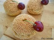 Choux crémeux pistache confit cerises