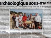 Article Matin Inauguration sentier archéologique sous-marin Tour Fondue