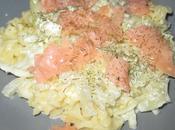 Pâtes saumon fumé fenouil