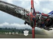 USA, UBER vous transporte Optimus Prime