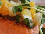 ~Pavés saumon, salsa fenouil l'orange~