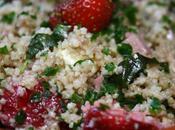 Taboulé fraises basilic