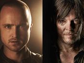 Walking Dead Aaron Paul (Breaking Bad) tournage saison avec Norman Reedus