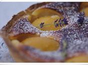 tarte pêches amandine... pour goûter enfants...