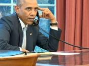 Barack Obama félicite l'équipe foot téléphone