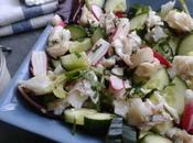 Salade marine, cabillaud, radis concombre