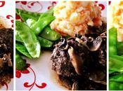 Boulettes boeuf, sauce champignons