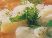 Filet merlu gaspacho pommes vertes