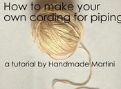 Astuce comment fabriquer corde pour passepoils