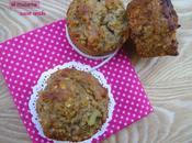 Muffins sans oeufs, rhubarbe, confiture groseilles/melon lait ribot