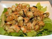Salade crevettes Piment d'Espelette