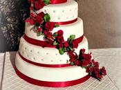 Wedding Cake rouge blanc
