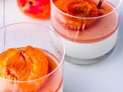 kitchen Basil Panna Cotta Poached Apricots