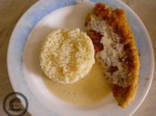 escalopes dinde panées, sauce blanche