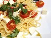 Spaghetti tomate mozzarella basilic semplicimente buono