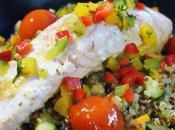 Saumon boulgour légumes