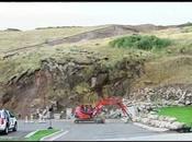 glissement terrain filmé time-lapse