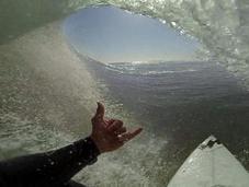 Surfez vague parfaite comme vous étiez