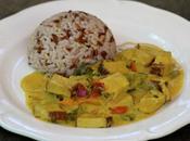 Tofu curry lait coco