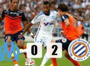 Ligue l'OM côté plaque face Montpellier