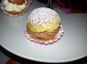 Choux crème chantilly framboise vanille carambar