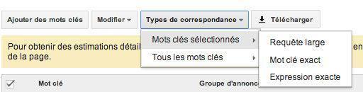 falloir viser large avec Google Adwords